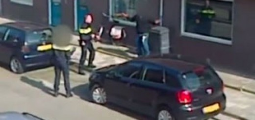police-abat-homme-arme-couteau-Eindhoven