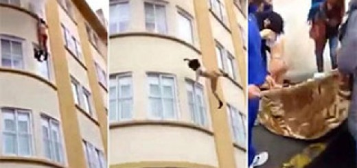Terrifying-moment-woman-jumps-out-of-a-burning-apartment-and-survives