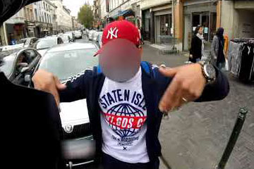Road rage motard Molenbeek