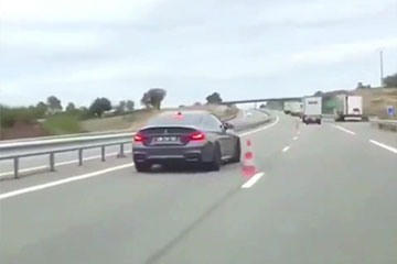 BMW M4 drift autoroute