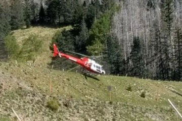 Helicoptere evite crash