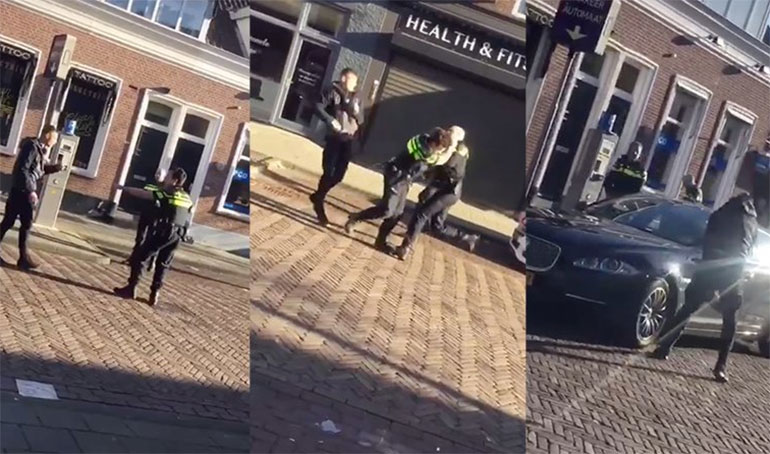 Agression police