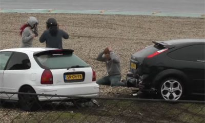 Collision entre Focus ST et Honda Civic course