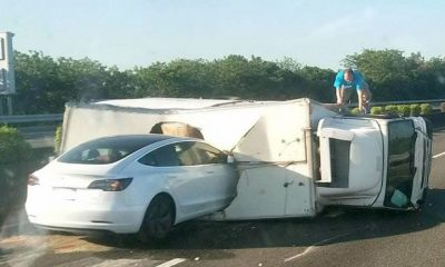 Accident tesla 3 autoroute